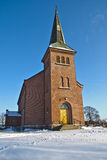 Rural Church. The church is located rural area in Aremark which is a village in Halden municipality. Church built in 1861 Royalty Free Stock Image