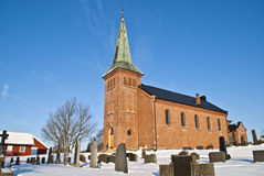 Rural Church. The church is located rural area in Aremark which is a village in Halden municipality. Church built in 1861 Royalty Free Stock Photography