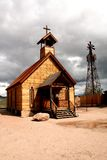 Rural Church. Rural wooden church building with steeple and cross royalty free stock photos