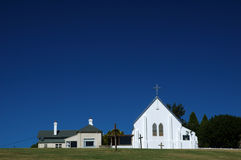 Rural Church. On a Hill. Horizontal Shot stock photos