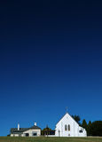 Rural Church. On a Hill. Vertical Shot stock images