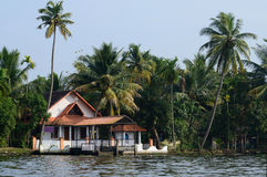 Rural church at Alappuzha backwaters,South India,Kerala Royalty Free Stock Photo