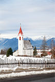 The rural church in alpine village Royalty Free Stock Image