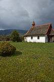 Rural Church in the Chilean Lake District. Small Church in farmland surrounding Lake Llanquihue in the Lake District of southern Chile Stock Image