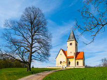 Rural church in Chvojen Royalty Free Stock Photos