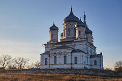 Rural church on a decline. Late autumn. Stavropol Territory IMG_1277 Royalty Free Stock Images