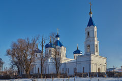 Rural church on a decline. Winter. Stavropol Territory IMG_1480 Stock Images