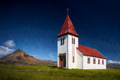 Rural church, Iceland Stock Image