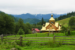 Rural church in the mountains Royalty Free Stock Image