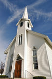 Rural Church in Ohio. Midwest of USA, near Akron Stock Image