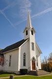 Rural Church in Ohio. Midwest of USA, near Akron Royalty Free Stock Photos