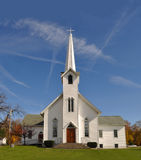 Rural Church in Ohio. Midwest of USA, near Akron Royalty Free Stock Image