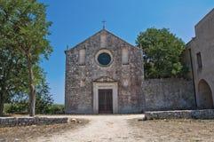 Rural church of Puglia. Perspective of the Madonna del Palazzo Church. Rutigliano. Puglia. Italy Stock Images