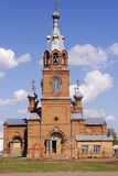 Rural church. Russia. Photographed in Russia, in the Orenburg region, in the village of Krasny Partizan Royalty Free Stock Photography