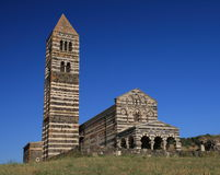 Rural Church in Sardinia. The name is Saccargia Royalty Free Stock Photo