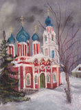 Rural church. The rural temple in the snow winter Royalty Free Stock Photography