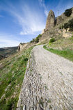 Rural Cobbled Road in Andalusia Countryside in Spain Royalty Free Stock Image