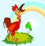 Rural Cock Stock Photo