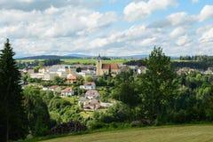 Rural community Neufelden - Austria stock photo
