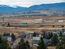 A Rural Community in a Wide Valley Royalty Free Stock Photos