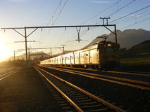 Rural commuter. A rural commuter train passes through Royalty Free Stock Image