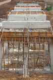 Rural construction of concrete bridges stock photography