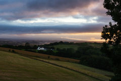 Rural contryside in evening Royalty Free Stock Image