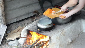 Rural cooking stock video footage