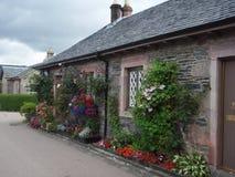 Rural cottage Scotland stock image