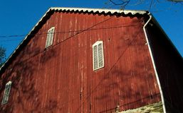 Rural Country Barn. Photo of red barn in the countryside of Maryland north of Baltimore Stock Photos