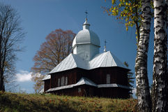 Rural country church. A former greek catholic church in Hoszowczyk, south-eastern Poland stock photos