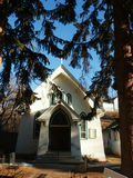 Rural Country Church. Country Church in Pine Trees Royalty Free Stock Photography