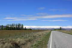 Rural country road in New Zealand. Stock Photo