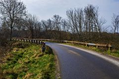 A rural country road in Sweden royalty free stock images