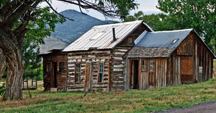 Rural Country Shack. A old, broken down rural shack sits in the foothills of the Rocky Mountains near Denver, Colorado Royalty Free Stock Images