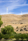 Rural Country Side Modern Green Wind Energy Generator Turibne Stock Photos