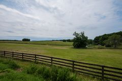 Rural Country York County Pennsylvania Farmland, on a Summer Day Royalty Free Stock Image
