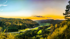 Rural Countryside Autumn Scenery Royalty Free Stock Photo