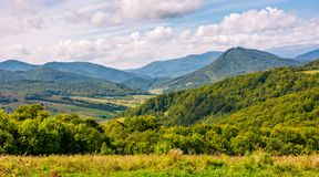 Rural countryside in mountainous area Royalty Free Stock Photo