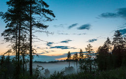 Rural countryside at sunset, Renko, Finland Royalty Free Stock Photography