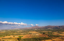 Rural Crete scenic aerial view royalty free stock image