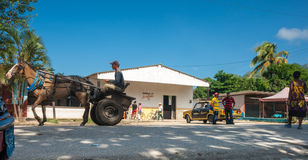 Rural Cuban township scene. Stock Photo