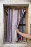 Rural curtain Stock Photos
