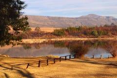 Rural dam in the Drakensberg area Stock Photo