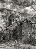 Rural Decay. In black and white stock image