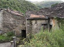 Rural depopulation. Abandoned old bar, restaurant in Iera. Stock Image