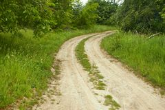 Rural dirt road Royalty Free Stock Photo