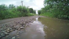 Rural dirt road stock video
