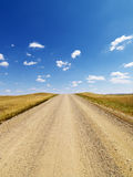 Rural Dirt Road Through Grassland Royalty Free Stock Image