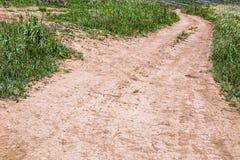Rural Dirt Road Track Through Green Vegetation Stock Photography